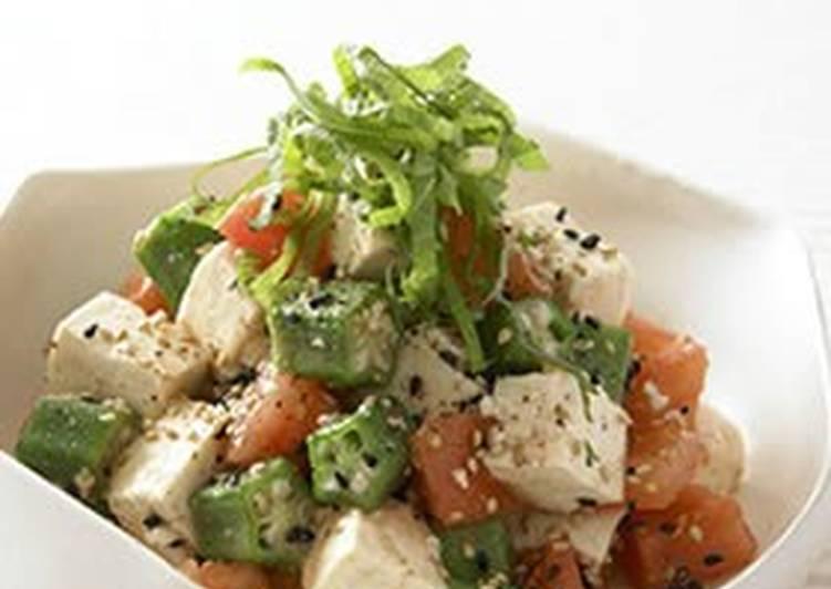 25 Minute Recipe of Award Winning Chunky Okra & Tofu Salad