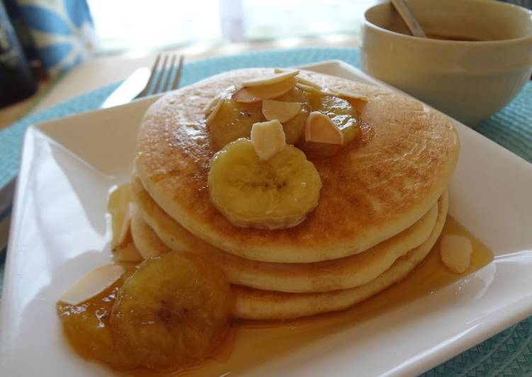 Recipe: Tasty Vegan Pancakes No Eggs, Milk or Oil