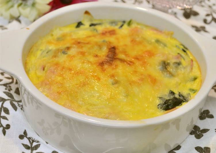Easiest Way to Prepare Award-winning Easy Quiche with Spinach and Bacon