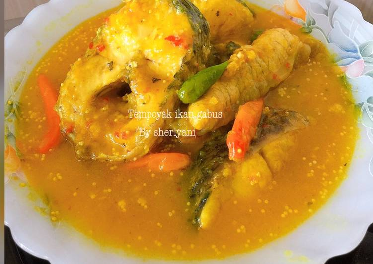 Tempoyak ikan gabus (khas jambi-palembang)