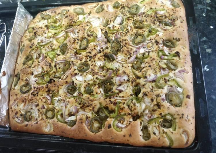 Recipe of Speedy Delicious veg Focaccia no knead bread