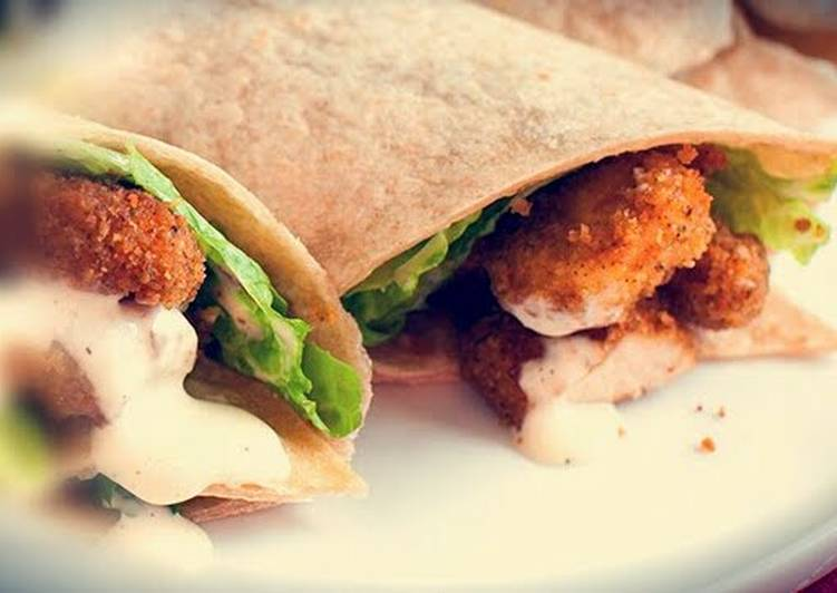 Recipe of Perfect Crispy chicken tortilla wrap