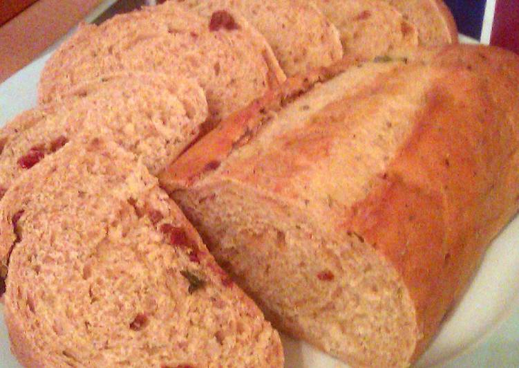 Vickys Sun-Dried Tomato Loaf, Dairy, Egg & Soy-Free, Bread Machine & Manual Methods
