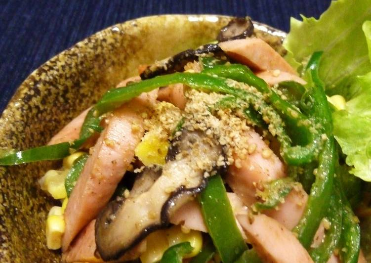 Recipe: Yummy Stir Fried Fish Sausages with Sesame Flavor