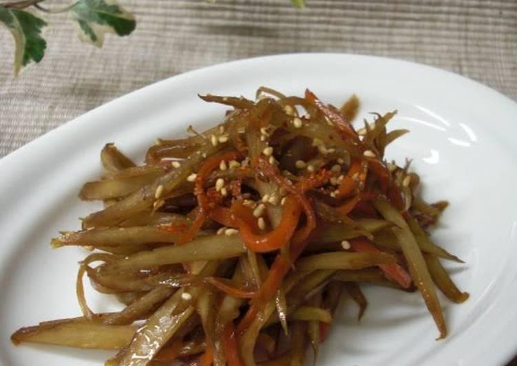 25 Minute Step-by-Step Guide to Prepare Speedy My Grandma's Kimpira Stir-fry