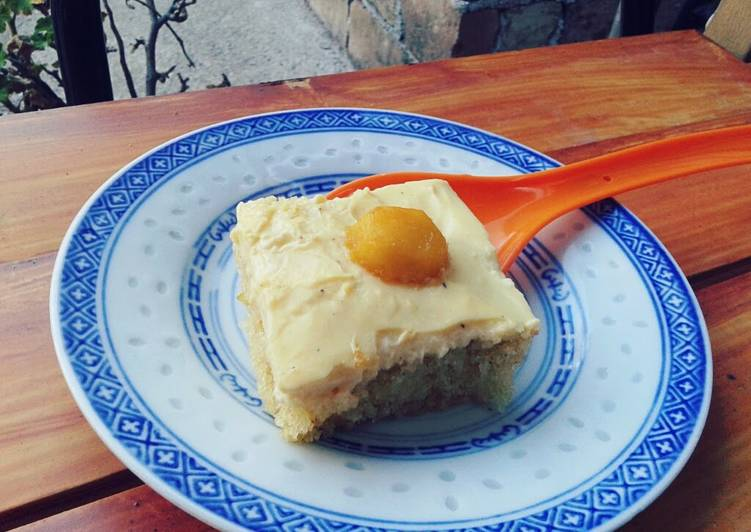 """Sunny-Side Up Egg"" Cake"