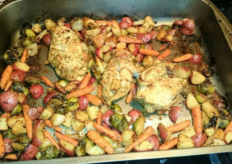 TT's Roasted  Chicken & Veggies, Help Your To Be Healthy And Strong with Food