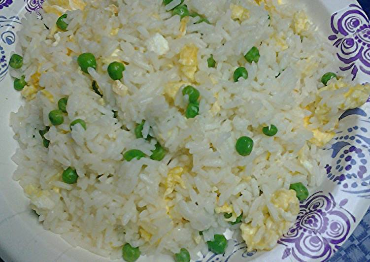 Choo Choo train fried rice, vegetarian version