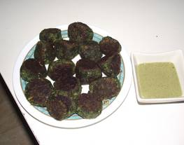 Albóndigas espinaca con velouté de espinaca