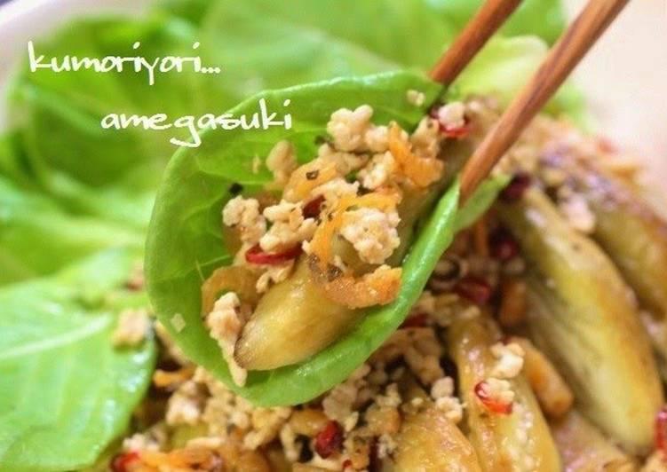 Thai Style Grilled Eggplant Salad