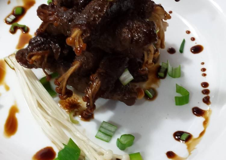 Easiest Way to Prepare Favorite Japanese Enoki Mushroom Beef Rolls