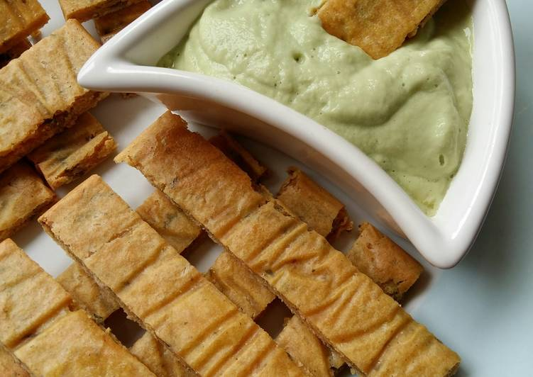 Vickys Herb & Chickpea 'Fries' with Garlic & Avocado Aioli, Gluten, Dairy, Egg, Soy & Nut-Free