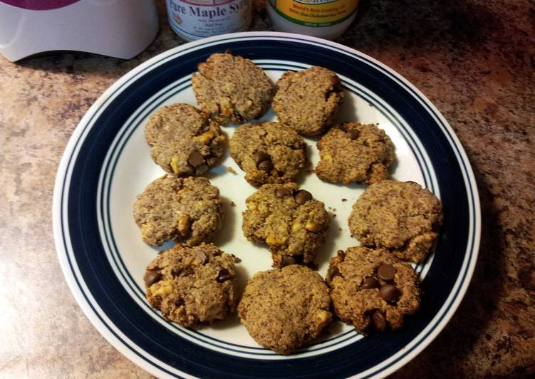 Awesome gluten and egg free chocolate chip walnut cookies