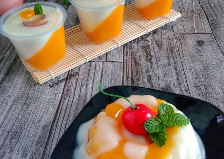 Fresh Mango Milky Pudding