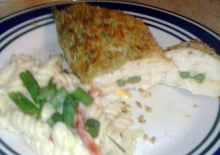 How to Prepare Tasty Asparagus and cheese stuffed chicken