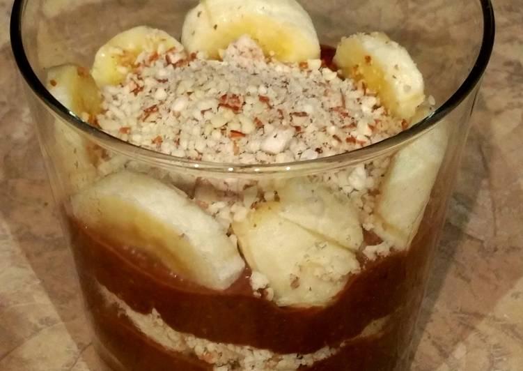 Chocolate Banana healthy protein pudding