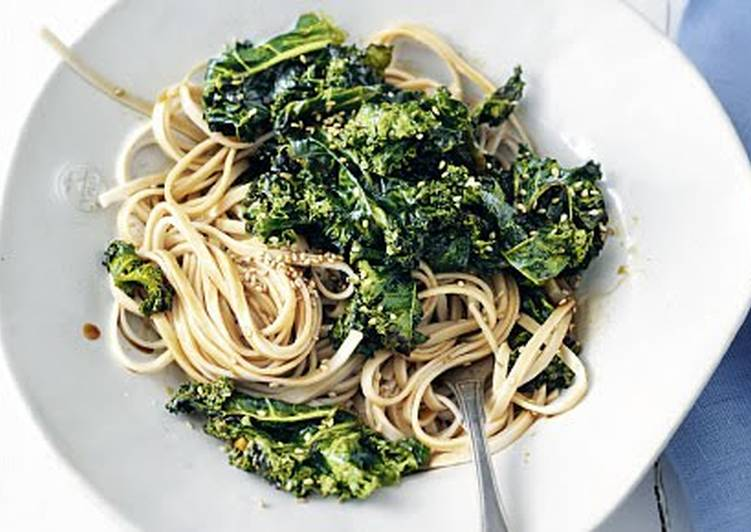 Roasted Sesame-Kale (Vegan)