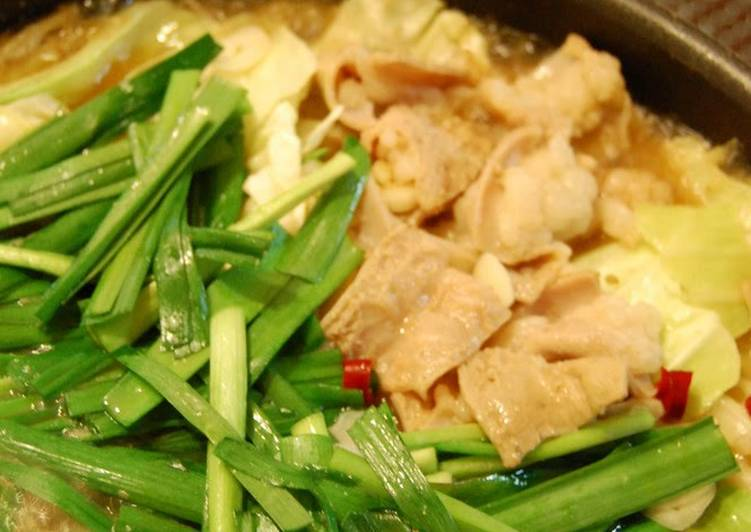 Old Fashioned Dinner Easy Royal Delicious Motsu Nabe (Pig Offal Hotpot) - A Speciality of Hakata