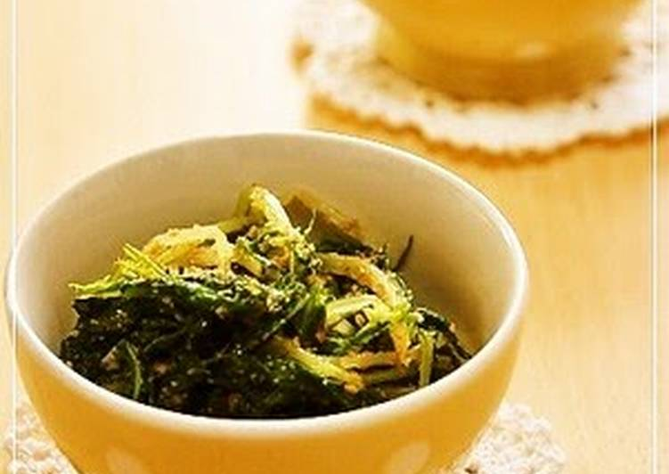 Step-by-Step Guide to Prepare Quick Mizuna Greens with Sesame Seeds