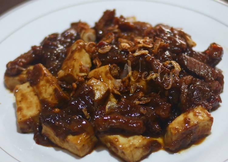 Semur daging sapi tofu