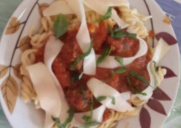 Recipe of Quick Spaghetti and meatballs from scratch