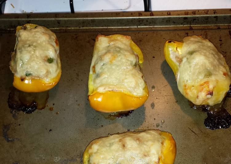 low carb stuff peppers tuna melts