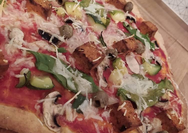 Pizza hivernale légère