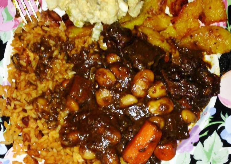 Recipe of Any-night-of-the-week Jammin' Jamaican Oxtails
