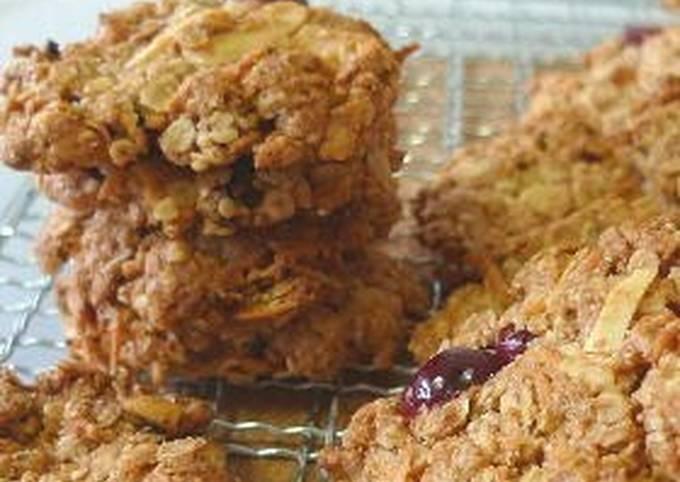 Macrobiotic Oatmeal Cookies Crunchy