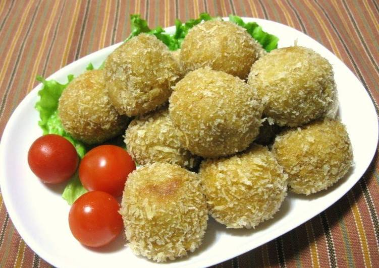 Steps to Make Homemade Chewy Taro Root and Cheese Croquettes