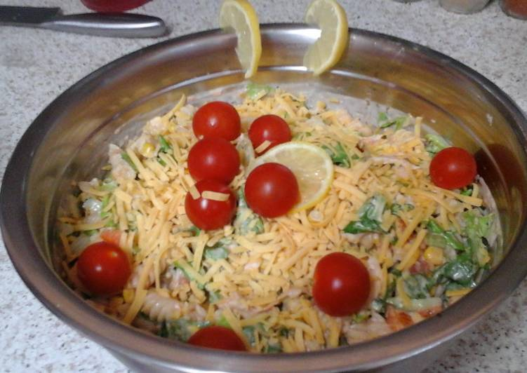 Recipe of Top-Rated My Chicken Sweetcorn Pasta with a Touch of Mexico 😉