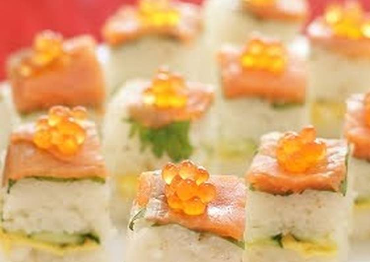 Smoked Salmon Oshizushi (Pressed Sushi) For Parties