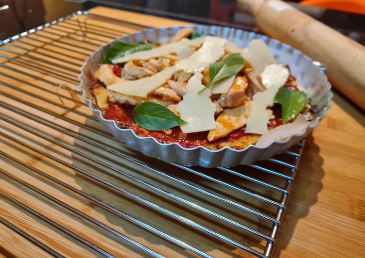 Resepi:  Pizza Cauliflower Keto  Termudah