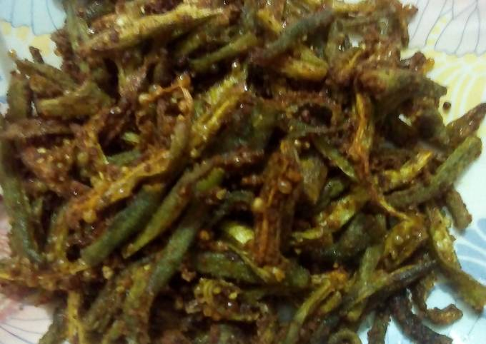 Pan Fried Crispy Okra(Bhindi)