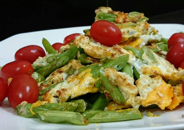 Recipe of Super Quick Homemade Fried Eggs With Green Bean