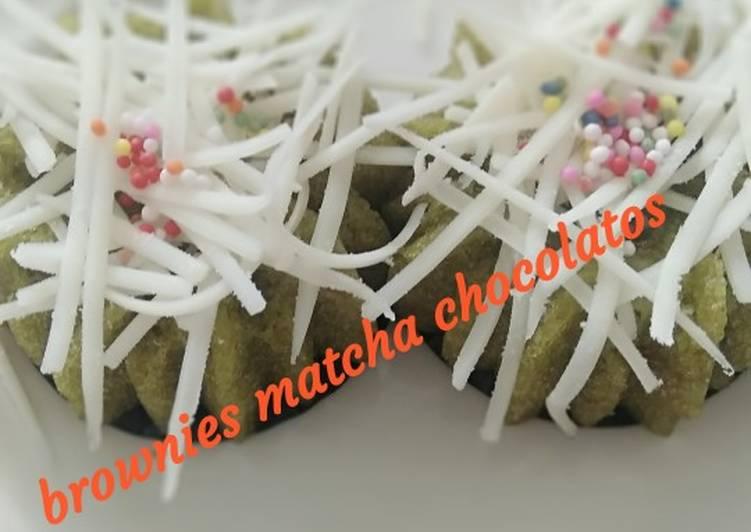 Brownies kukus chocolatos matcha 🤤🤤