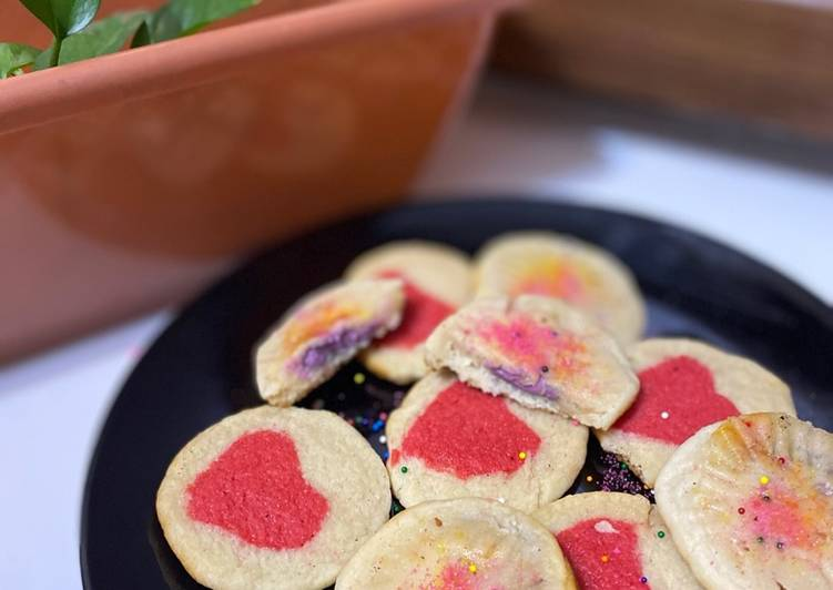 Recipe of Speedy Heart Cookies and chocolate filled cookies