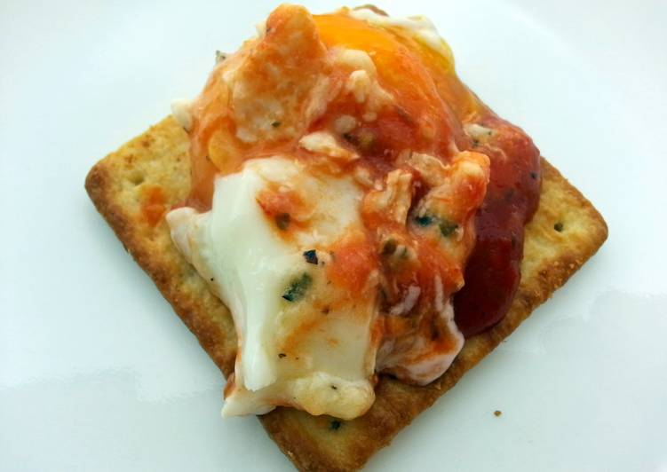 Baked Egg With Coconut Milk And Pasta Sauce