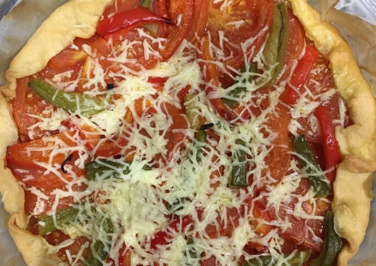 Façon la plus simple Cuisiner Parfait Tarte tomate moutarde poivrons