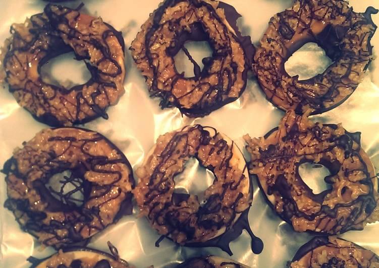 Copycat Somoa Girl Scout Cookies