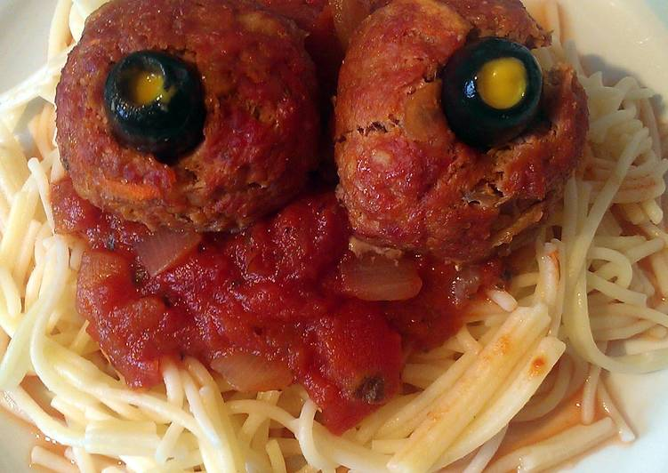 How to Prepare Yummy Vickys Halloween Spaghetti & Eyeballs (Meatballs) GF DF EF DF NF