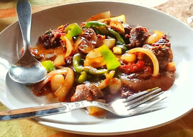 Pork 🐷 in a gravy  🍛