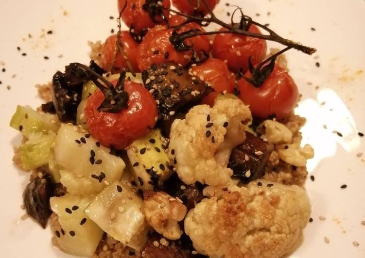Légumes Rôtis sur lit de Quinoa🌿