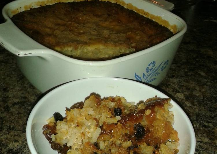 Steps to Make Homemade Momma's Rice Pudding