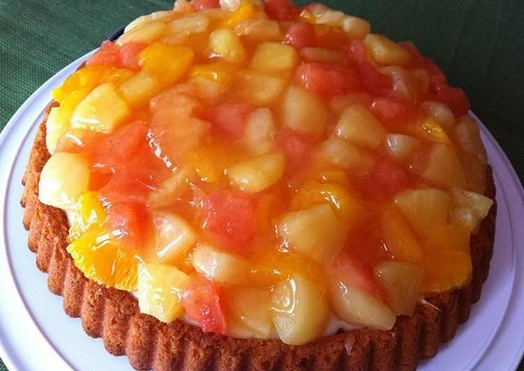 Steps to Make Award-winning German Dessert: Orange & Grapefruit Tart