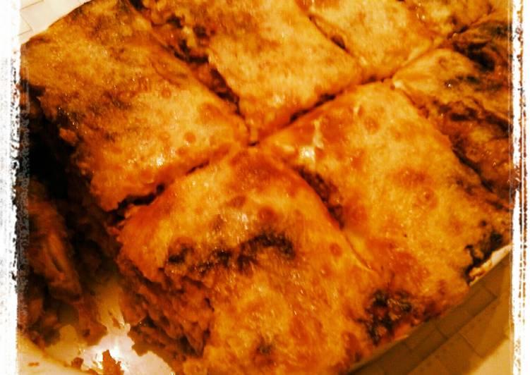 Fast food lasagne