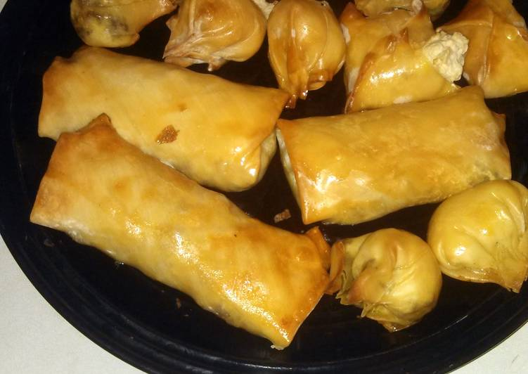 Recipe of Homemade Tasty Oven Baked Rangoon and Beef Egg Rolls