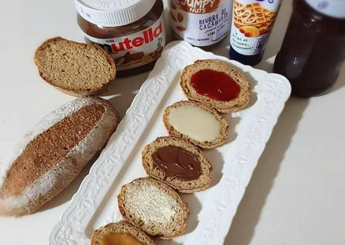 Tartines de pain complet gourmandes ❤