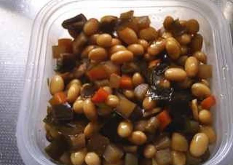 Pressure Cooker Gomoku-Mame (5 ingredient beans)