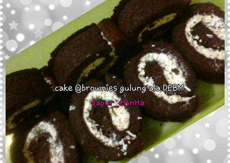Brownies gulung ala DEBM